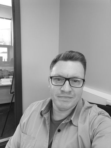Black and white photo of Chelmer Valley's general manager Antony Pasquini